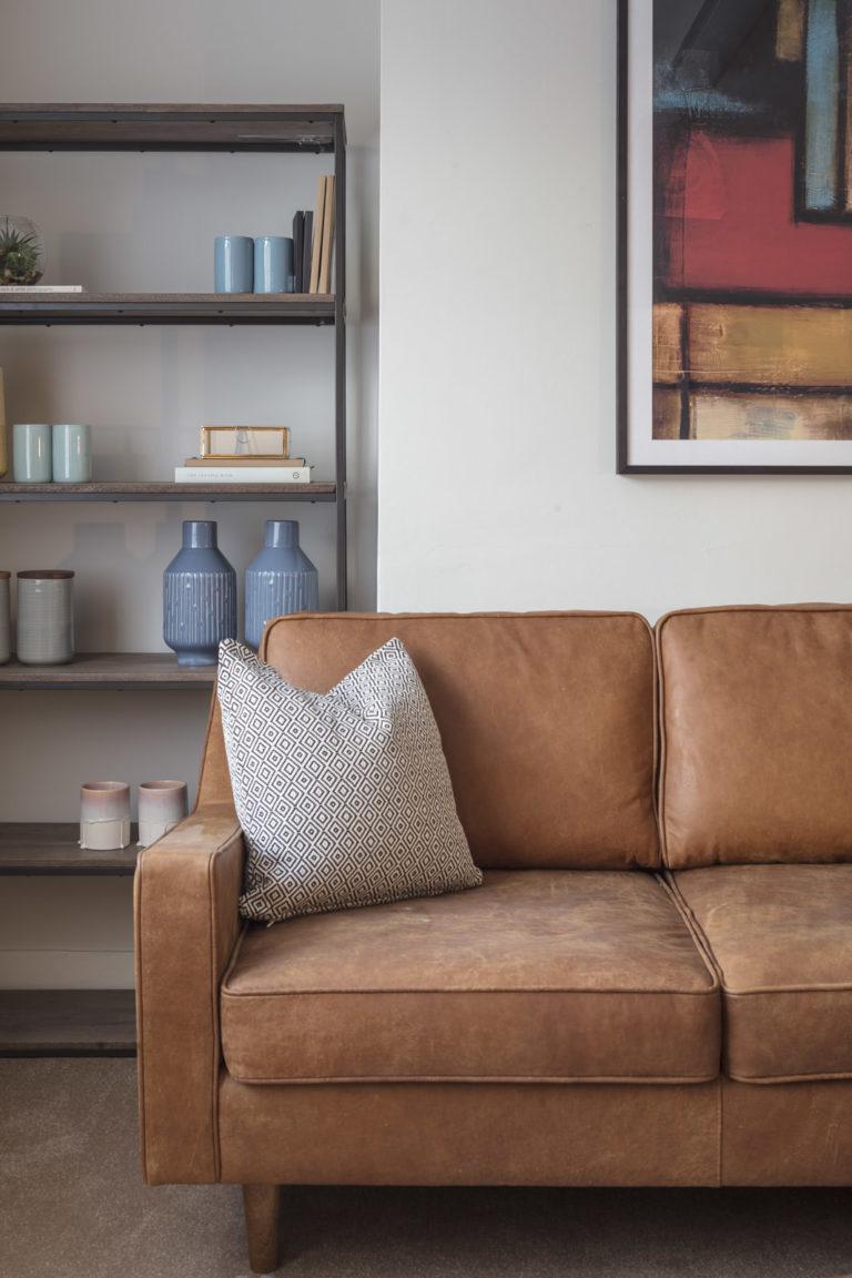 Leather sofa and holistic design