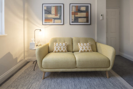Therapy room with 2-seater sofa