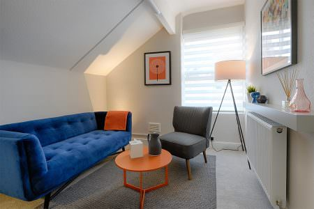 Colourful therapy room available to rent in Wilmslow