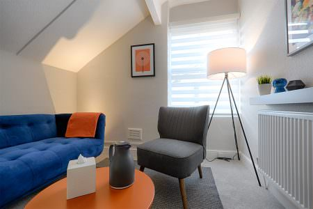 Colourful therapy room