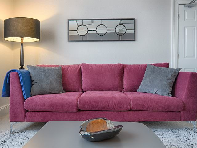 Large sofa in Wilmslow therapy room