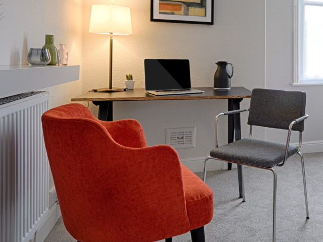 Therapy room with modern conveniences