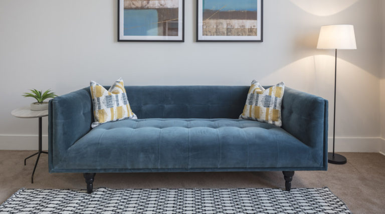Brighter Spaces sofa in couples therapy room